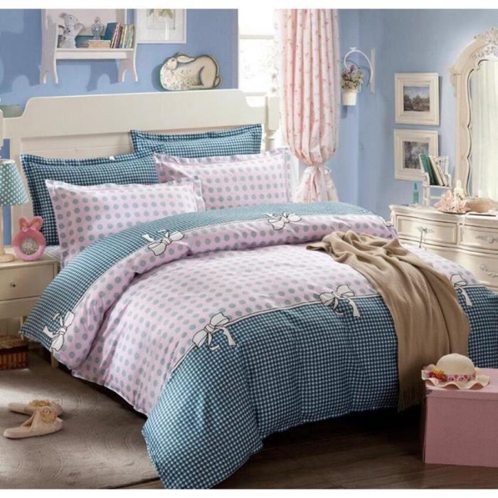lit kit linge garnitures de lit impression r active coton moderne kit linge de lit la taie d. Black Bedroom Furniture Sets. Home Design Ideas
