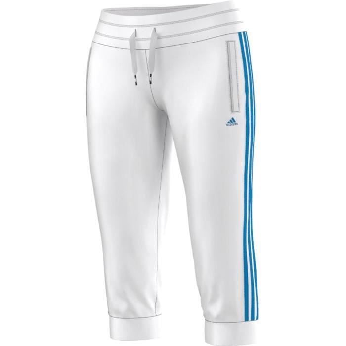 Pantalon de surv tement adidas 3 blanc blanc achat vente surv tement de sport cdiscount - Pantalon de survetement ...