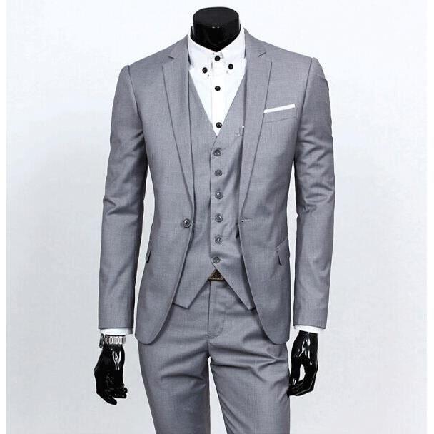 Costume de mariage hommes avec pantatlon costum noir gris achat vente costume tailleur - Costume gris mariage ...