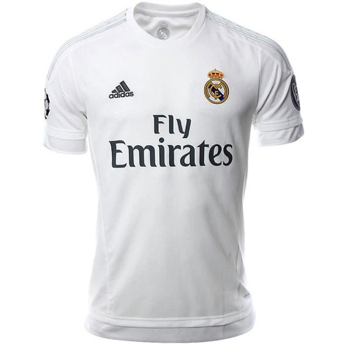 real h jsy ucl blc maillot football real madrid homme adidas prix pas cher cdiscount. Black Bedroom Furniture Sets. Home Design Ideas