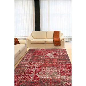 tapis salon rouge 160x230 achat vente tapis salon rouge 160x230 pas cher cdiscount. Black Bedroom Furniture Sets. Home Design Ideas