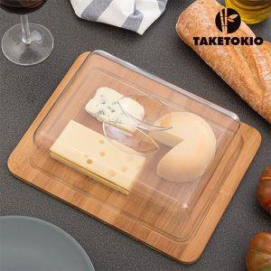 PLATEAU À FROMAGE  Cloche à Fromage en Bambou TakeTokio