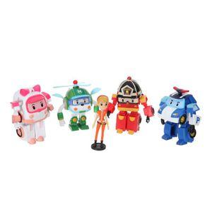 FIGURINE - PERSONNAGE ROBOCAR Pack de 5 figurines 8 cm