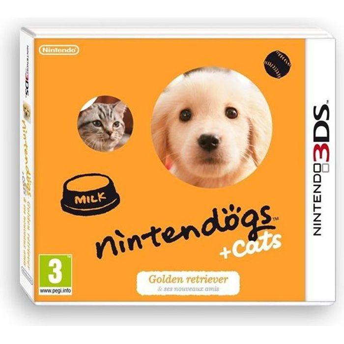 nintendogs cats golden jeux 3ds achat vente jeux 3ds nintendogs 3ds cats golden 3ds. Black Bedroom Furniture Sets. Home Design Ideas