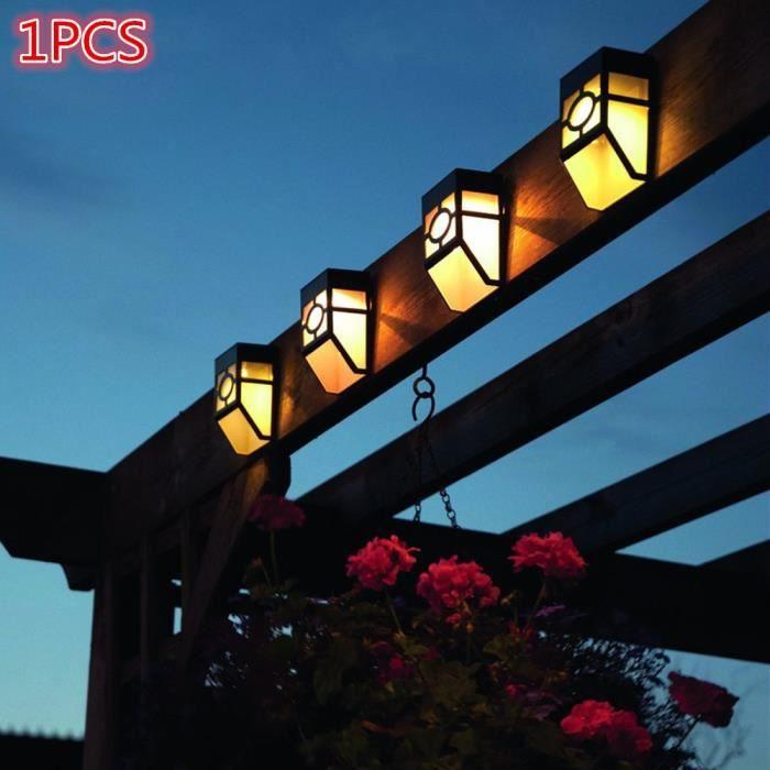 1x lumiere solaire 2led wall mount lanterne paysage for Lumiere solaire exterieur