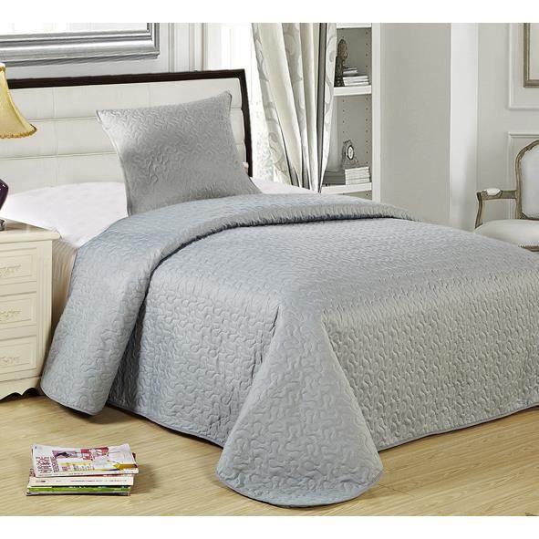 boutis unis 1 place gris achat vente tapis de bain. Black Bedroom Furniture Sets. Home Design Ideas