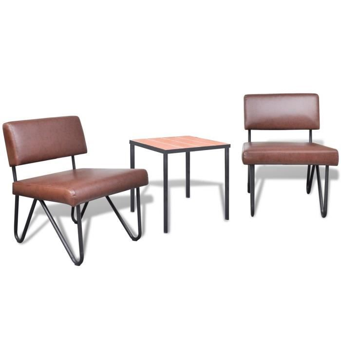 Decor lot de chaises en simili cuir marron 51 nice nice lot polish airlin - Chaise en cuir pas cher ...