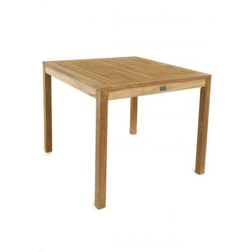 Table De Jardin Carr E En Teck Massif 80 Cm Achat