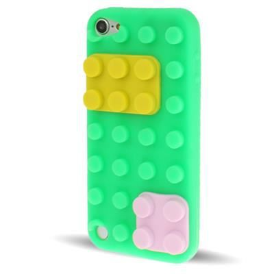 Ipod touch 5 coque housse de protection silicone vert bloc for Housse ipod touch 5