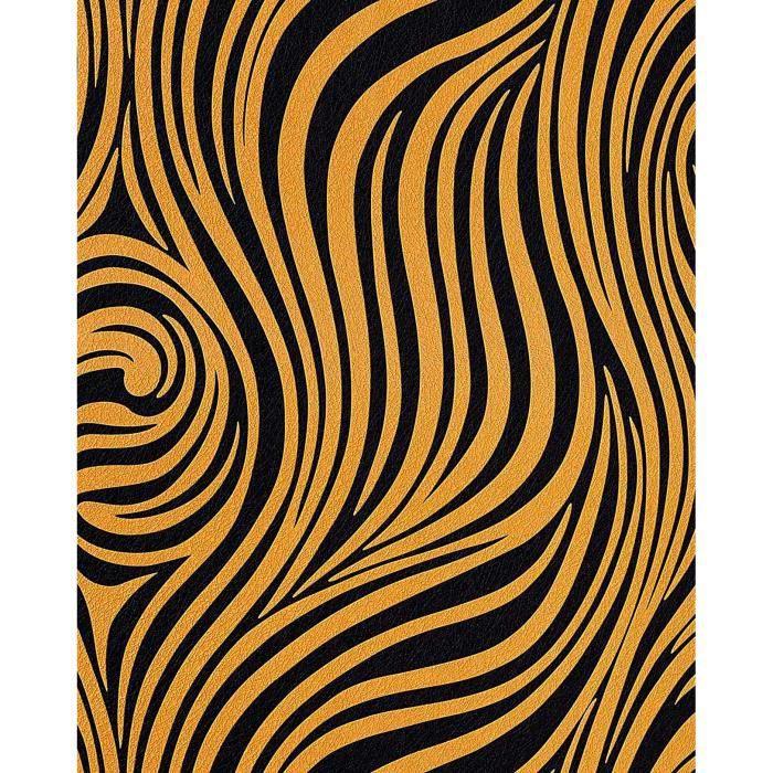 papier peint design l gant zebr exotique en relief rev tement edem 1016 11 lessivable dor. Black Bedroom Furniture Sets. Home Design Ideas