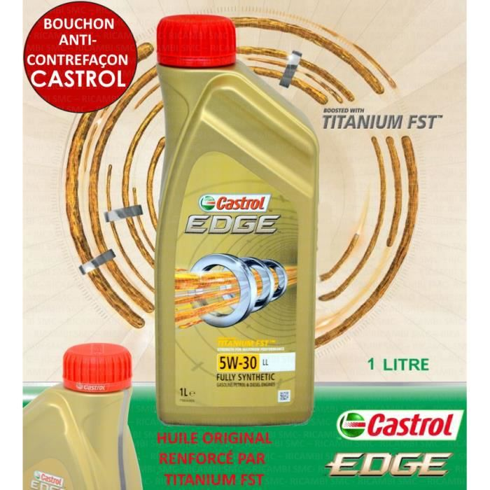 1 litre castrol edge 5w30 titanium fst ll seat vw 507 00 achat vente huile moteur 1 litre. Black Bedroom Furniture Sets. Home Design Ideas