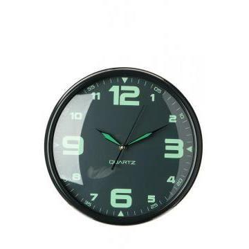 horloge phosphorescente quartz grise achat vente horloge cdiscount. Black Bedroom Furniture Sets. Home Design Ideas