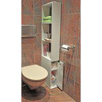 ALASKA Meuble de toilette 1 porte mélaminé blanc