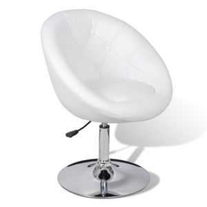 Fauteuil simili cuir blanc achat vente fauteuil simili cuir blanc pas che - Fauteuil blanc capitonne ...