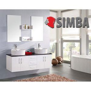 meuble salle de bain 150 cm achat vente meuble salle de bain 150 cm pas cher cdiscount. Black Bedroom Furniture Sets. Home Design Ideas