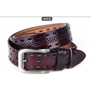 CEINTURE ET BOUCLE 2016 ceintures 100 % cuir véritable masculine, Des