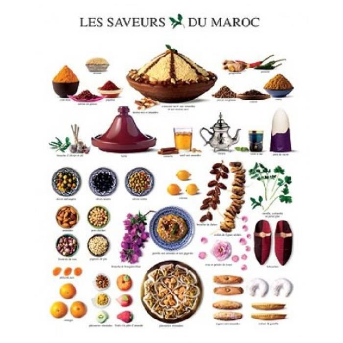 cuisine poster reproduction les saveurs du maroc 30 x 24 cm achat vente affiche cdiscount. Black Bedroom Furniture Sets. Home Design Ideas