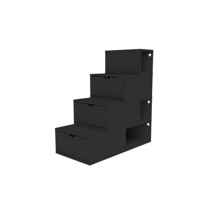 escalier cube de rangement hauteur 100 cm achat vente petit meuble rangement escalier cube. Black Bedroom Furniture Sets. Home Design Ideas