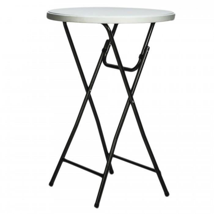 table pliante mange debout diametre 80 cm hauteur 110 cm usage d interieur et ou d