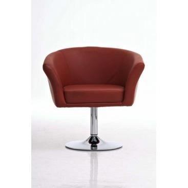 Fauteuil diego cognac achat vente fauteuil caoutchouc cdiscount for Petit fauteuil salon design