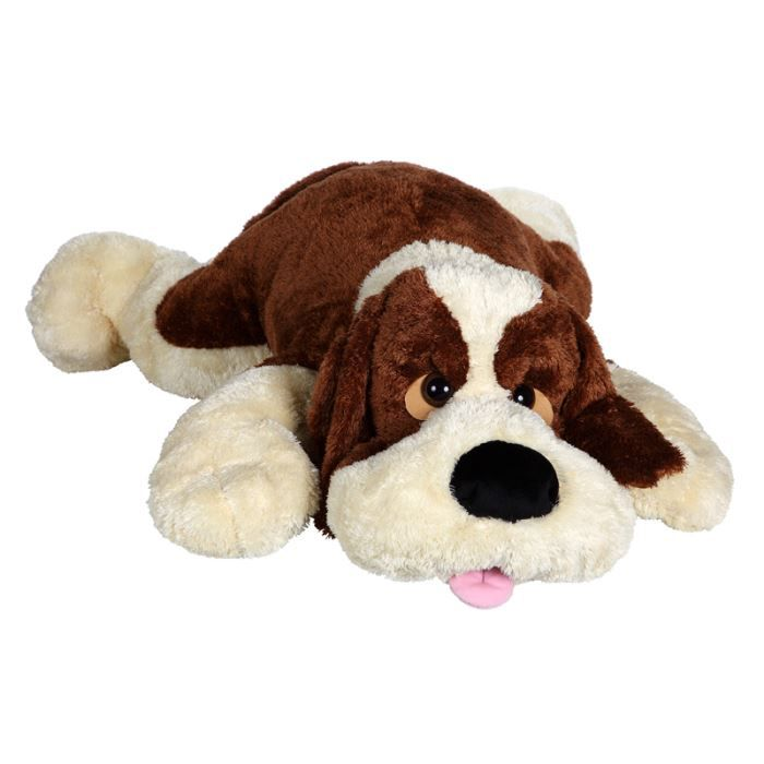 peluche chien carpette geant 115 cm achat vente. Black Bedroom Furniture Sets. Home Design Ideas