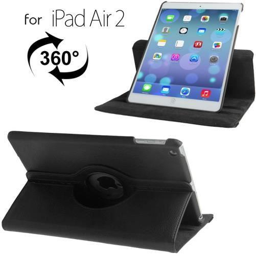 etui rotatif pour ipad air 2 6th noir prix pas cher cdiscount. Black Bedroom Furniture Sets. Home Design Ideas