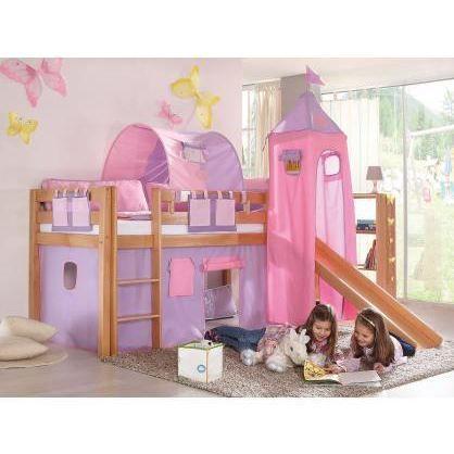 lit sur lev enfant carla naturel achat vente lit. Black Bedroom Furniture Sets. Home Design Ideas