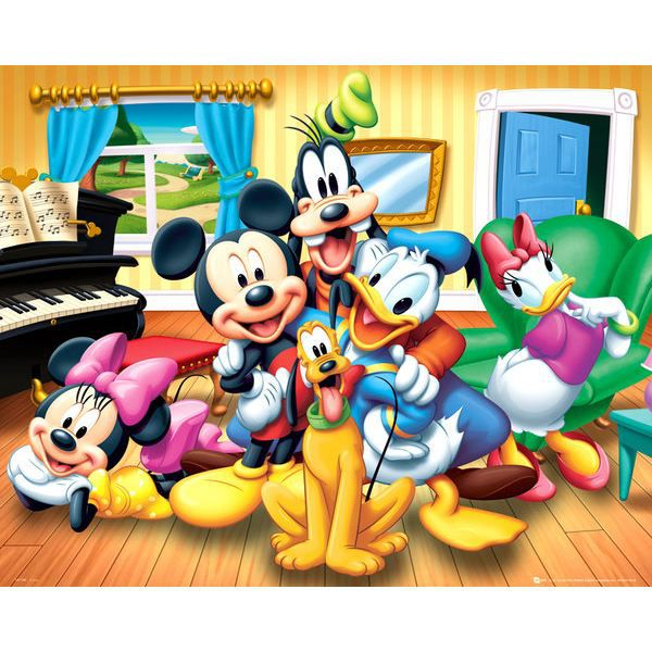 mickey poster 40 x 50 cm achat vente affiche cdiscount. Black Bedroom Furniture Sets. Home Design Ideas