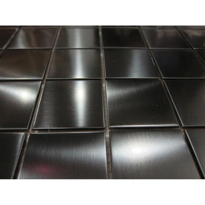 Carrelage mosa que en acier inoxydable noir offre for Achat carrelage