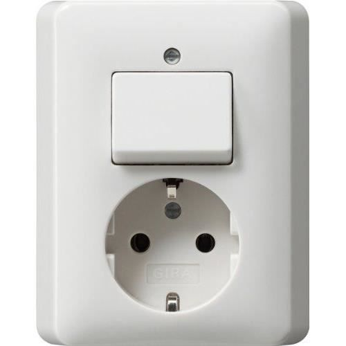 Gira 017603 prise interrupteur va et vient blanc brillant for Hauteur prise et interrupteur