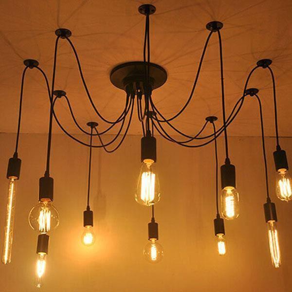 Ferandhome lampe de plafond suspension lustre luminaires - Douille ampoule plafond ...