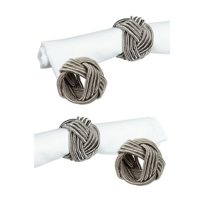4 ronds de serviette tress s achat vente rond de for Rond de serviette maison