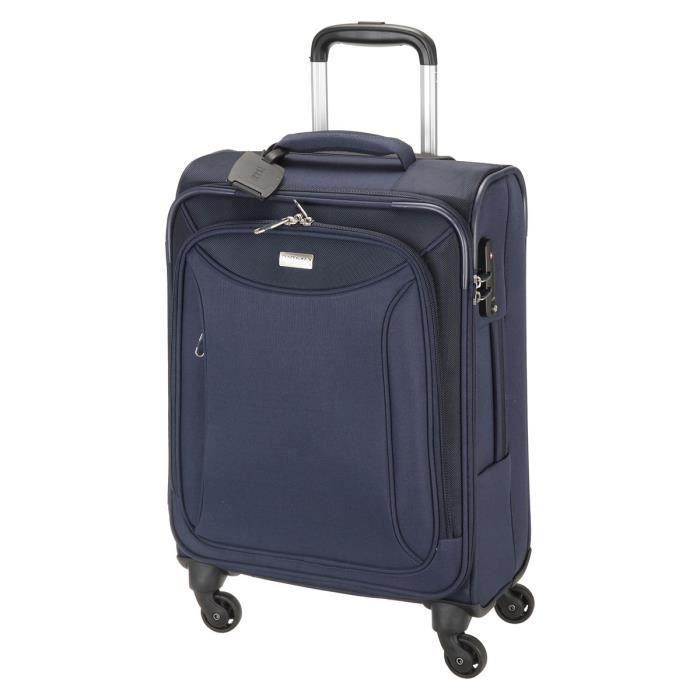 jump valise cabine trolley toledo 55 cm 4 roues bleu bleu. Black Bedroom Furniture Sets. Home Design Ideas