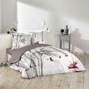 parure de lit chic achat vente parure de lit chic pas cher cdiscount. Black Bedroom Furniture Sets. Home Design Ideas