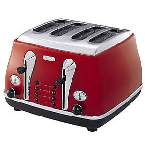 grille pain icona delonghi cto4003r rouge achat vente grille pain toaster cdiscount. Black Bedroom Furniture Sets. Home Design Ideas