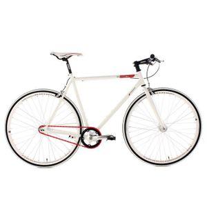 VÉLO DE VILLE - PLAGE Vélo à pignon fixe 28'' Essence blanc TC 59 cm