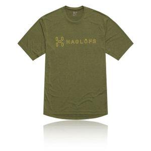 MAILLOT DE RUNNING Haglofs Ridge Ii T-Shirt Vert Homme