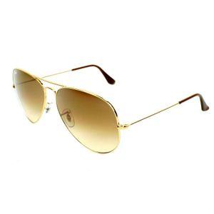 LUNETTES DE SOLEIL Aviator 3025 dorée-verre dégradé Taille L (62mm)