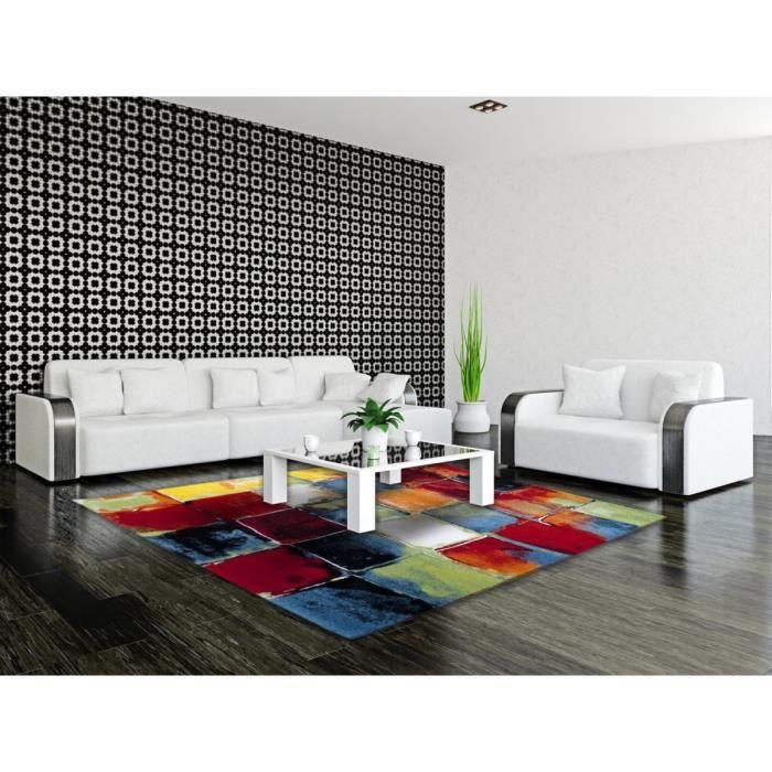 allotapis tapis moderne et multicolore de salon bahia 80x150cm multicolore achat vente. Black Bedroom Furniture Sets. Home Design Ideas