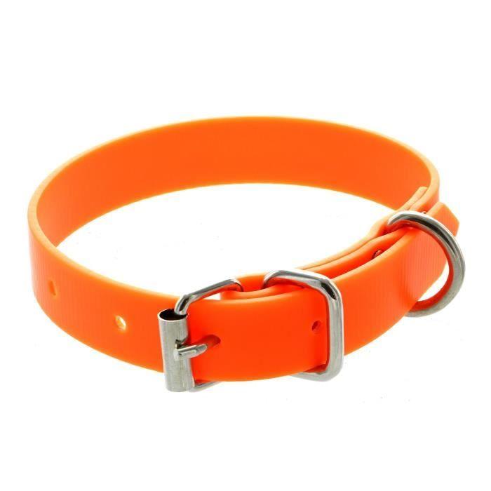 collier pvc petit chien orange fluo achat vente collier collier pvc petit chien ora. Black Bedroom Furniture Sets. Home Design Ideas