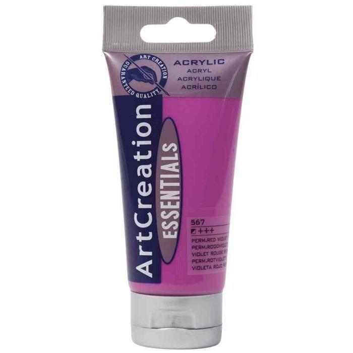 Acrylique artcreation violet rouge clair 75ml achat - Violet clair peinture ...