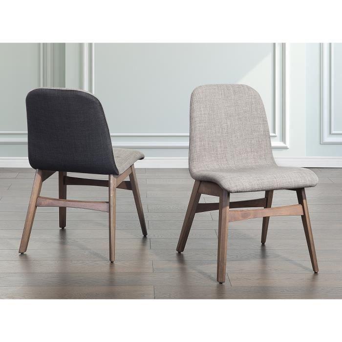 Chaise de salle manger chaise en tissu gris clair for Chaise de salle a manger occasion