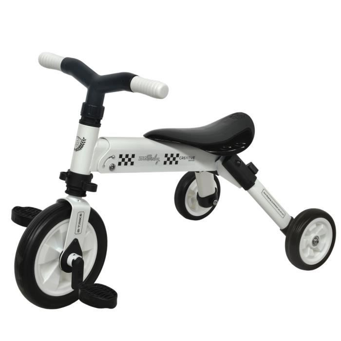 tricycle 2 en 1 dhs 101 b trike blanc prix pas cher cdiscount. Black Bedroom Furniture Sets. Home Design Ideas
