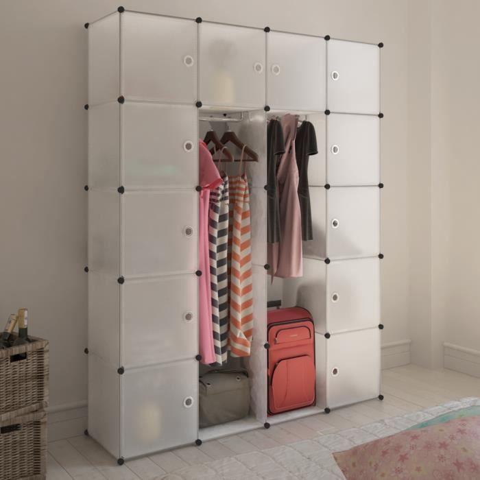Cabinet modulable pour er v tements et chaussures de for Meuble pour vetement