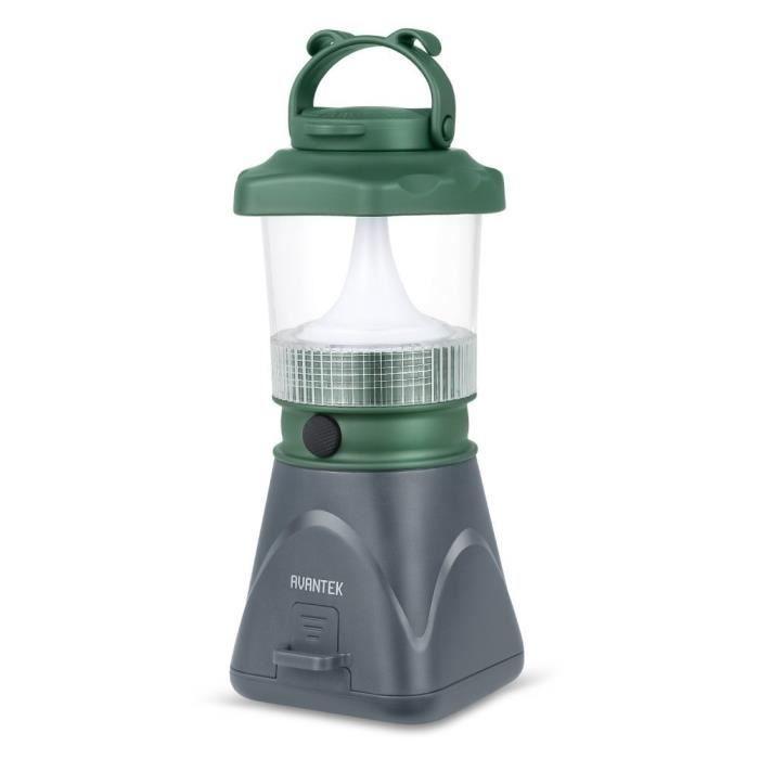 avantek lanterne de camping lampe led rechargeable usb portable panneau solaire d tachable 2. Black Bedroom Furniture Sets. Home Design Ideas