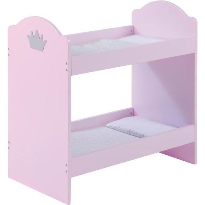 roba 98031 mobilier de poup e lit superpo achat. Black Bedroom Furniture Sets. Home Design Ideas
