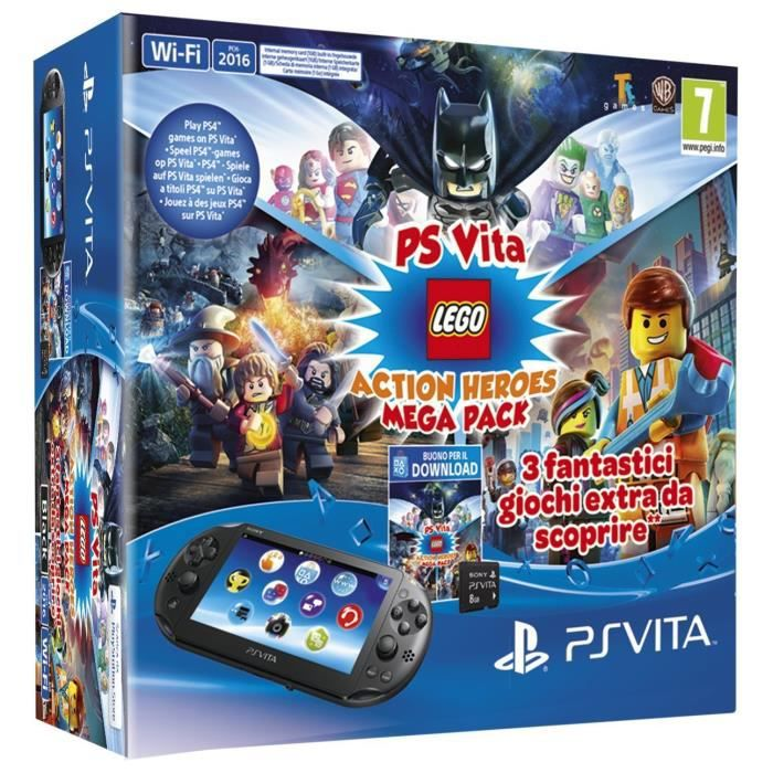 console playstation vita pch2016 lego action heroes mega pack mc 8gb achat vente. Black Bedroom Furniture Sets. Home Design Ideas