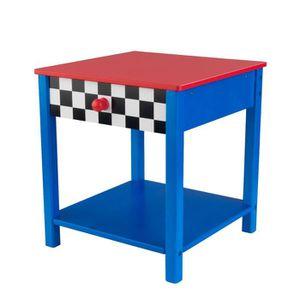 table de chevet garcon achat vente table de chevet garcon pas cher cdiscount. Black Bedroom Furniture Sets. Home Design Ideas
