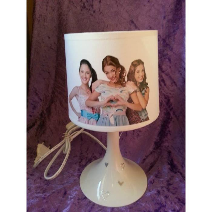 Lampe de chevet enfant blanche violetta achat vente for Lampe de chevet blanche