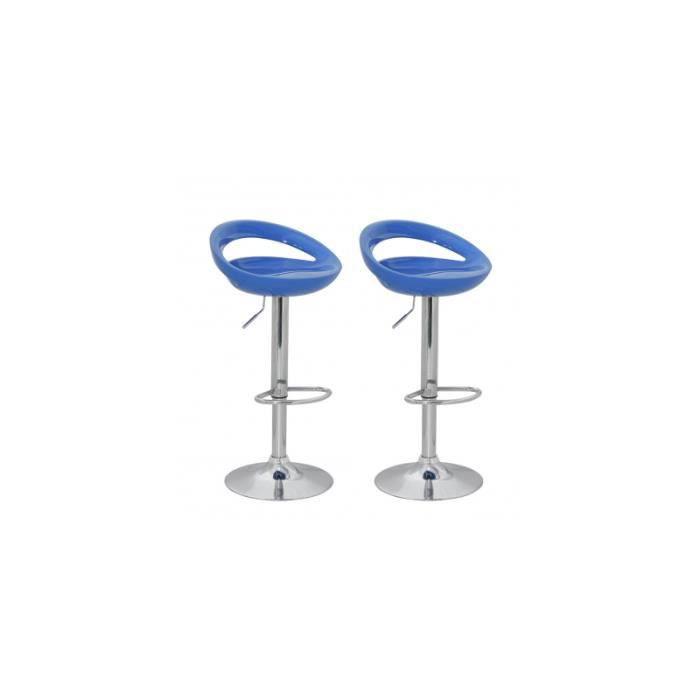 Tabouret design cosmo lot de achat vente tabouret de bar bleu soldes - Tabouret de bar soldes ...